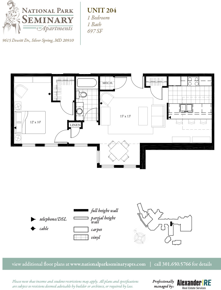 Floor Plans Pricing National Park Seminary Apartments Apartments Silver Spring Bethesda